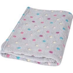 Babymatex Dětská deka Milly puntík šedá, 75 x 100 cm
