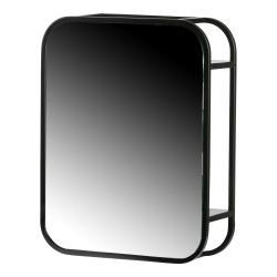 Zrcadlo v černém kovovém rámu WOOOD Olivia, 45 x 35 cm