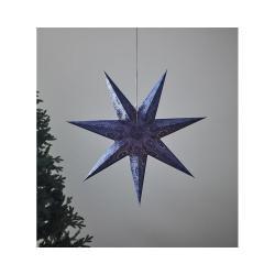 Modrá světelná závěsná dekorace Markslöjd Isadora, výška 75 cm