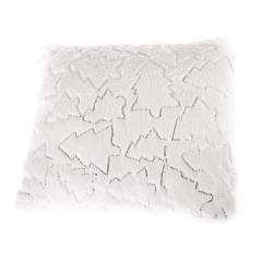 Bílý povlak na polštář s vánočními motivy Dakls, 40 x 40 cm