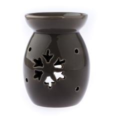 Hnědá keramická aromalampa s motivem vločky Dakls