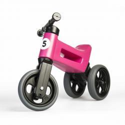 Teddies Odrážedlo Funny wheels Rider Sport 2v1, růžová