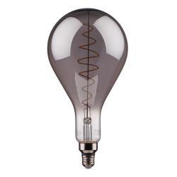 BRIGHT LIGHT LED lampa žárovka XXL kouřové sklo