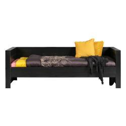 Černá postel/sofa z borovicového dřeva WOOOD Dennis
