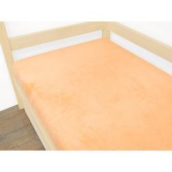 Oranžové prostěradlo z mikroplyše,90x180cm