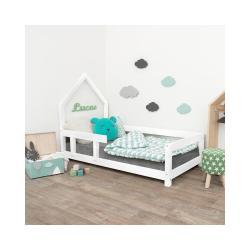 Bílá dřevěná dětská postel Benlemi Pippi,90x160cm