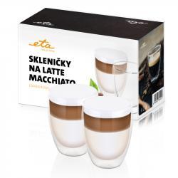 Skleničky na latte macchiato ETA 2x 350 ml