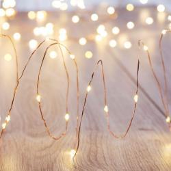 LED světelný řetěz DecoKing Wire, 100 světýlek, délka 2,3 m