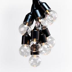 Prodloužení LED světelného řetězu DecoKing Indrustrial Bulb, 10 světýlek,délka3m