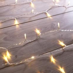 Transparentní LED světelný řetěz DecoKing Christmas, 200 světýlek,délka1m