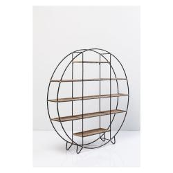 Černá knihovna Kare Design Bamboo, ⌀150cm