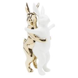 Dekorativní kameninová soška Kare Design Hugging Rabbits