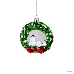 PEANUTS Skleněná ozdoba Snoopy věněc