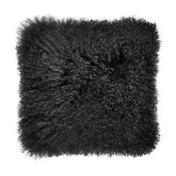 TASHI Polštář z tibetské jehněčí kůže 40 x 40 cm - černá