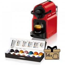 Kávovar na kapsle KRUPS Inissia červený  + 14 nespresso kapslí ZDARMA
