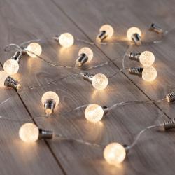 LED světelný řetěz ve tvaru žárovek DecoKing Bulb, 20 světýlek,2,4m