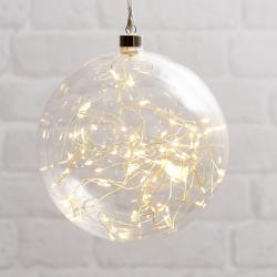 Best Season Glow LED dekorační koule ze skla, Ø 20 cm čirá