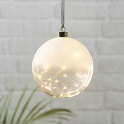 Best Season Glow LED dekorační koule matná/čirá, Ø 15 cm