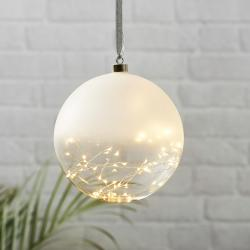 Best Season Glow LED dekorační koule matná/čirá, Ø 20 cm