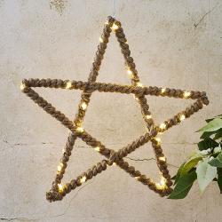 Best Season Jutta LED dekorační hvězda s jutovým lankem