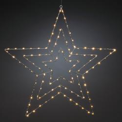 Konstmide CHRISTMAS LED dekorativní světlo stříbrná hvězda 66 x 64 cm