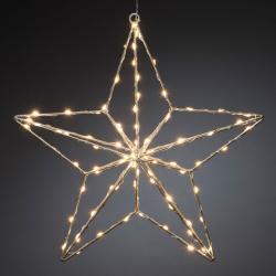 Konstmide CHRISTMAS LED dekorativní světlo stříbrná hvězda 37 x 36 cm