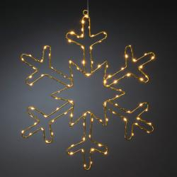 Konstmide CHRISTMAS LED dekorativní světlo zlatá sněhová vločka