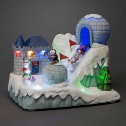 Konstmide CHRISTMAS LED dekorativní světlo sjezdovka s hudbou