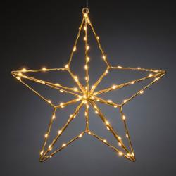 Konstmide CHRISTMAS LED dekorativní světlo zlatá hvězda 37x36 cm
