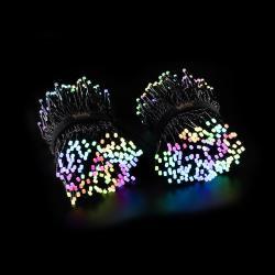 Twinkly Světelný řetěz Twinkly RGB, černý, 600 žárovek 48m