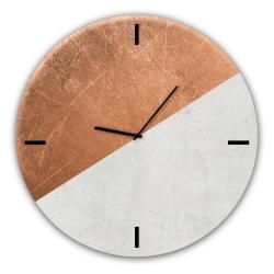Skleněné nástěnné hodiny Styler Half Coper, ø 30 cm