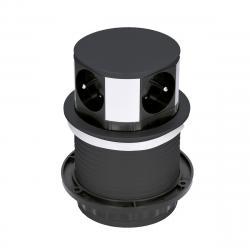 Solight PP100-B Výsuvný prodlužovací blok se 4 zásuvkami, černá