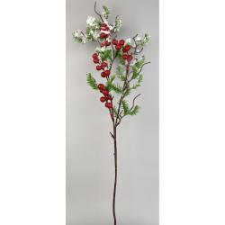 Dekorační zasněžená větvička Bobule, 60 cm