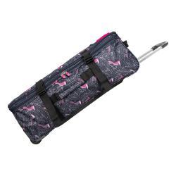 Šedá cestovní taška na kolečkách Lulucastagnette Jungle, 91l