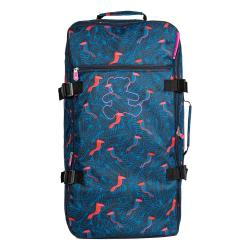 Modrá cestovní taška na kolečkách Lulucastagnette Jungle, 91l