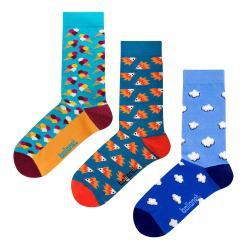 Set 3 párů ponožek Ballonet Socks Novelty Blue v dárkovém balení, velikost 41 - 46