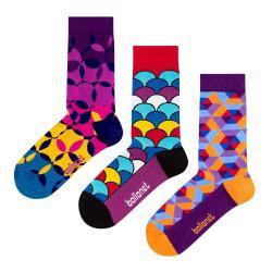 Set 3 párů ponožek Ballonet Socks Geo v dárkovém balení, velikost 41 - 46
