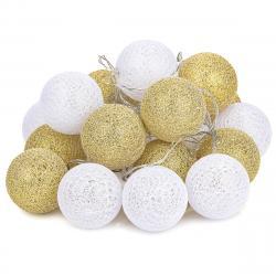 Světelný řetěz Redondo bílo-zlatá, 20 LED, 3 m, teplá bílá