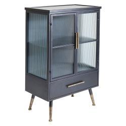 Černá vitrína Kare Design La Gomera, výška 105cm