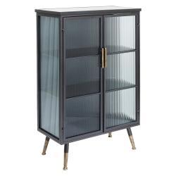 Černá vitrína Kare Design La Gomera, výška120cm