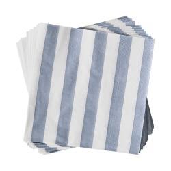APRÈS Papírové ubrousky proužky 20 ks - sv. modrá