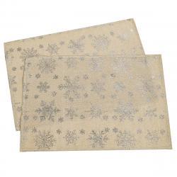 Dakls Vánoční prostírání Vločka zlatá, 32 x 45 cm, sada 2 ks