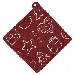 Dakls Vánoční podložka Andílek červená, 20 x 20 cm