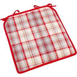Trade Concept Sedák Káro červeno-béžová, 40 x 40 cm
