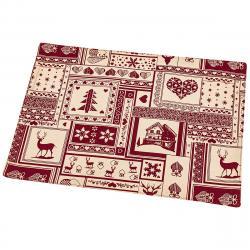 Trade Concept Vánoční prostírání Patchwork červená, 33 x 45 cm
