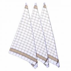 Forbyt Kuchyňská utěrka Brown, 50 x 70 cm, sada 3 ks