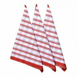 Forbyt Kuchyňská utěrka Red, 50 x 70 cm, sada 3 ks