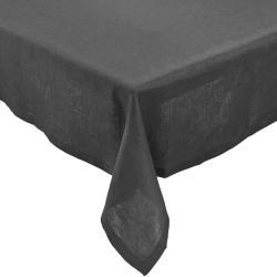 PLAIN & NOBLE Ubrus 150 x 150 cm - antracitová