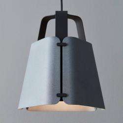 BELID Závěsné světlo Fold, betonová struktura, 27,5 cm