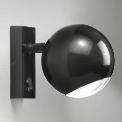 Milan Milan Bo-La nástěnné světlo, hranatý držák, černé